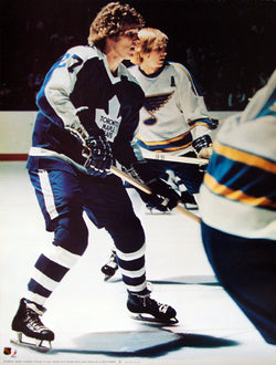 "Darryl Sittler ""Classic"" Vintage Toronto Maple Leafs Poster - Sports Posters 1974"