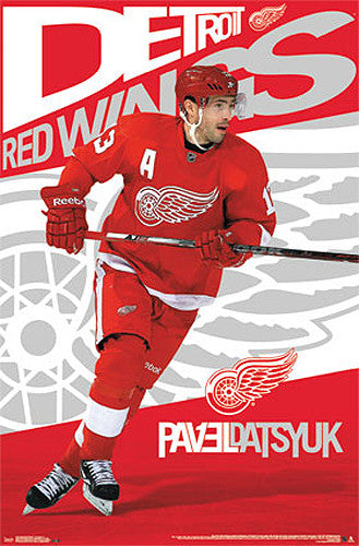 "Pavel Datsyuk ""Superstar"" Detroit Red Wings NHL Action Poster - Costacos 2013"