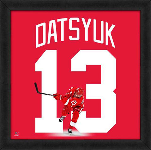"Pavel Datsyuk ""Number 13"" Detroit Red Wings FRAMED 20x20 UNIFRAME PRINT - Photofile"