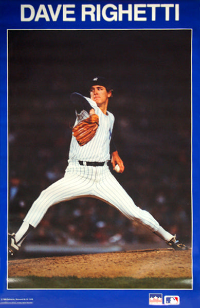 "Dave Righetti ""Pinstripes"" New York Yankees MLB Baseball Action Poster - Starline 1987"