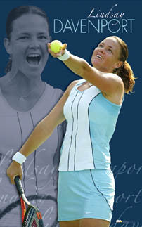 "Lindsay Davenport ""Superstar"" WTA Women's Tennis Action Poster - Ace Authentic 2005"
