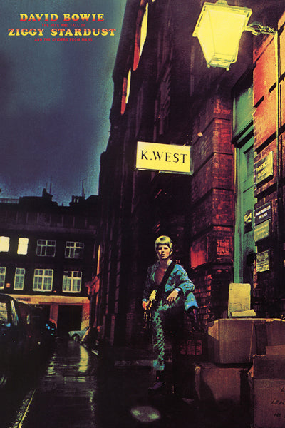 "David Bowie ""Ziggy Stardust"" (1972) Album Cover Reprint Poster - Aquarius"