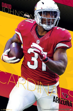 "David Johnson ""Trail Blazer"" Arizona Cardinals NFL Football Running Back Poster - Trends Int'l."