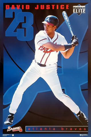 "David Justice ""Elite"" Atlanta Braves MLB Action Poster - Costacos Brothers 1995"