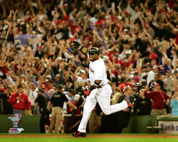 David Ortiz 2004 ALDS Game 3 Walk Off Home Run Boston Red Sox Premium Poster Print - Photofile