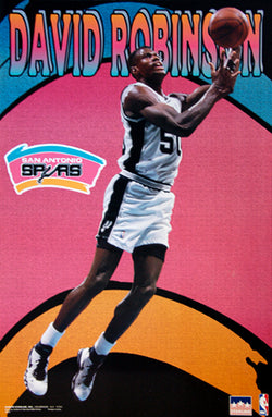"David Robinson ""Rebound"" San Antonio Spurs Poster - Starline Inc. 1997"