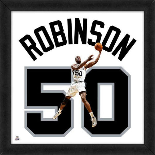 "David Robinson ""Number 50"" San Antonio Spurs NBA FRAMED 20x20 UNIFRAME PRINT - Photofile"
