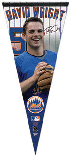 "David Wright ""Signature"" Oversized Premium Felt Pennant"