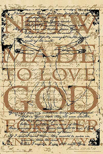 NOTW Made To Love God Forever (Da Vinci Vitruvian Man) Poster - Slingshot Publishing