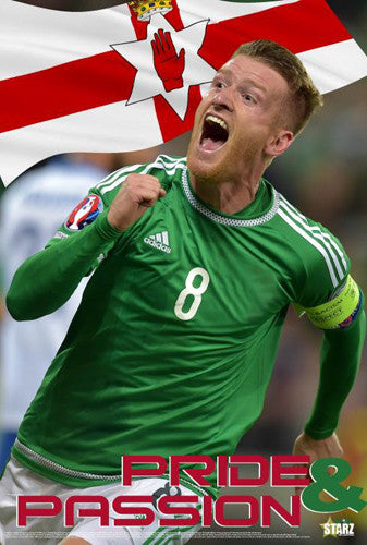 "Steven Davis ""Pride and Passion"" Northern Ireland Football Soccer Poster - Starz"