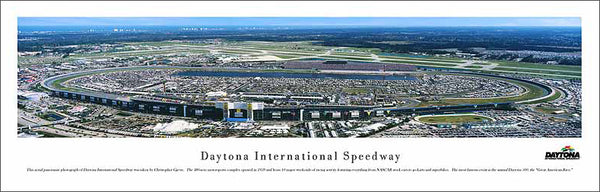Daytona International Speedway Race Day Aerial Panoramic Poster Print - Blakeway 2005