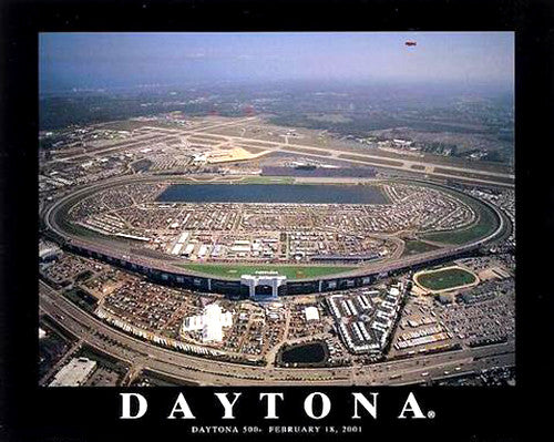 "Daytona International Speedway ""From Above"" Premium Poster Print - Aerial Views"