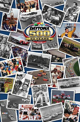 "Daytona 500 ""50 Years"" Commemorative Poster - Time Factory 2008"