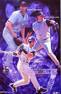 "Arizona Diamondbacks ""Megabite"" Poster (Johnson, Schilling, Gonzalez) - Starline 2001"