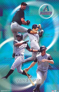 "Arizona Diamondbacks ""Venomous"" Poster (Johnson, Gonzo, Spivey, Counsell) - Starline 2003"