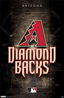 Arizona Diamondbacks Official MLB Baseball Team Logo Poster - Trends International
