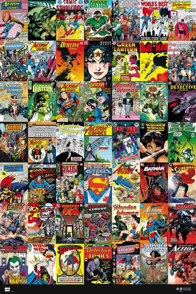 DC Comics Universe 49 Historic Covers On One Poster - Grupo Erik