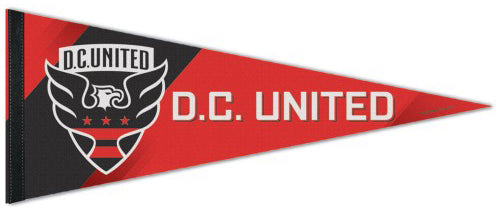 DC United MLS Soccer Team Premium Felt Collector's Pennant - Wincraft Inc.