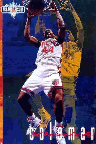 "Derrick Coleman ""NBA Jam Session"" (1993) New Jersey Nets Poster - Costacos Brothers"