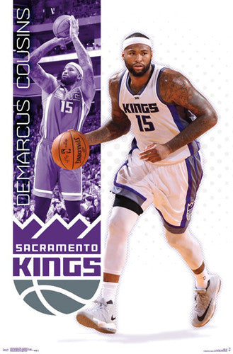 "DeMarcus Cousins ""The King"" Sacramento Kings NBA Basketball Poster - Trends 2017"