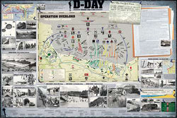 D-Day WWII Normandy Invasion Military History Wall Chart Poster - Eurographics Inc.