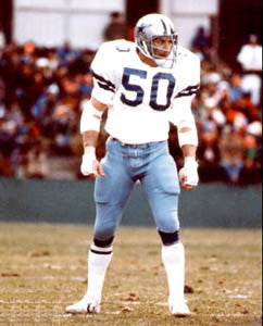 "DD Lewis ""Staredown"" (c.1977) Dallas Cowboys Linebacker Premium Poster Print - Photofile Inc."