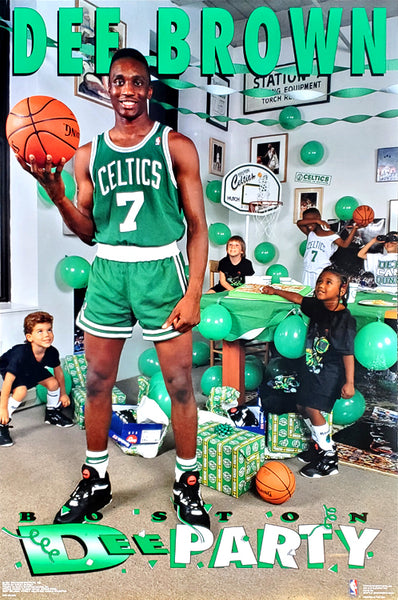 "Dee Brown ""Boston Dee Party"" Boston Celtics Vintage Original NBA Poster - Costacos Brothers 1991"