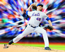 "Jacob de Grom ""MotionBlast"" New York Mets Premium MLB Poster Print - Photofile 16x20"