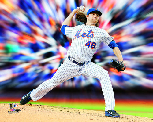 "Jacob deGrom ""MotionBlast"" New York Mets Premium MLB Poster Print - Photofile 16x20"