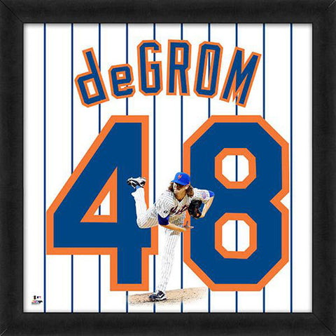 "Jacob de Grom ""Number 48"" New York Mets FRAMED 20x20 UNIFRAME PRINT - Photofile"