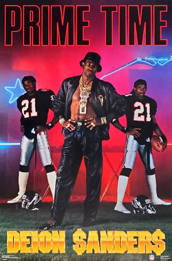 "Deion Sanders ""PRIME TIME"" Atlanta Falcons NFL Football Poster - Costacos Brothers 1990"