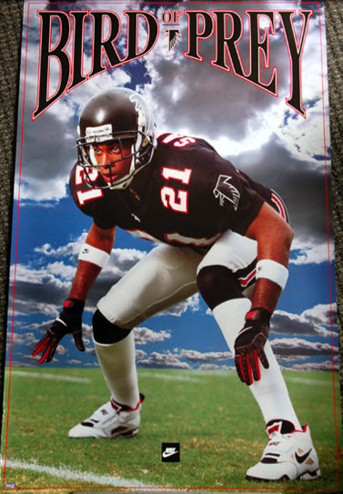 "Deion Sanders ""Bird of Prey"" (1992) Atlanta Falcons Nike NFL Football Poster"