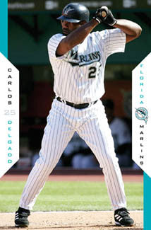 "Carlos Delgado ""Superstar"" Florida Marlins MLB Action Poster - Costacos 2005"