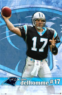 "Jake Delhomme ""Panther Power"" Carolina Panthers Poster - Costacos 2006"
