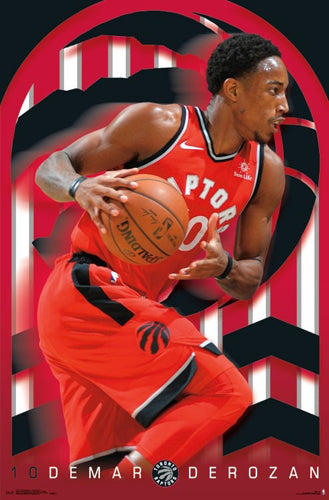 "DeMar DeRozan ""Drive"" Toronto Raptors NBA Basketball Action Poster - Trends 2018"