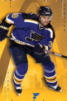 "Pavol Demitra ""Scoring Machine"" St. Louis Blues Poster - Costacos 2003"