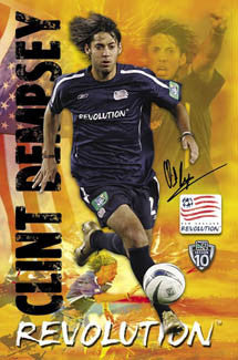 "Clint Dempsey ""Superstar"" New England Revolution MLS Poster - S.E. 2005"