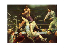 "Boxing Classic ""Dempsey vs. Firpo"" (George Bellows 1924) Poster Print - NYGS"