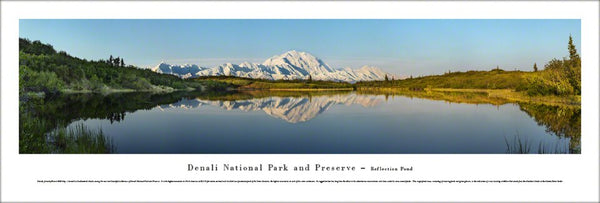 Denali National Park, Mount McKinley, Alaska Panoramic Poster Print - Blakeway Worldwide
