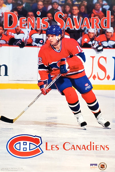 "Denis Savard ""Habs Action"" Montreal Canadiens NHL Hockey Poster - Starline 1991"