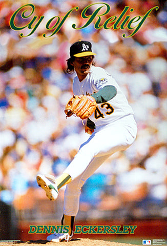 "Dennis Eckersley ""Cy of Relief"" Oakland A's Poster - Costacos Brothers 1989"