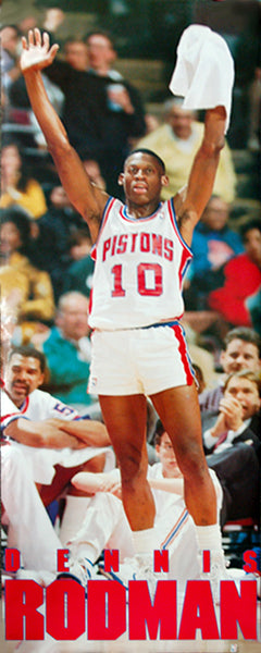 "Dennis Rodman ""Big-Time Bad Boy"" (1990) Detroit Pistons HUGE Door-Sized Poster - Costacos Brothers"