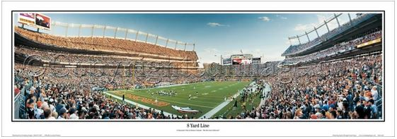 "Denver Broncos Football ""8 Yard Line"" Gameday Panoramic Poster Print - Everlasting Images"