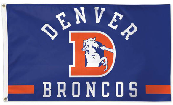 Denver Broncos Classic Retro 1968-96 Style NFL Football Deluxe-Edition 3'x5' Team FLAG - Wincraft