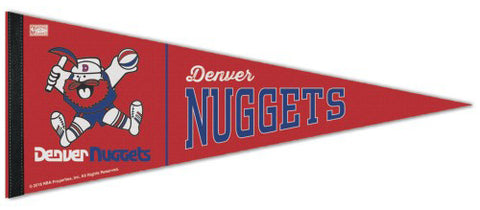 Denver Nuggets Retro-1970s-Style ABA/NBA Basketball Premium Felt Pennant - Wincraft Inc.