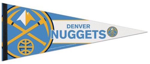 Denver Nuggets Official NBA Logo-Style Premium Felt Collector's Pennant - Wincraft