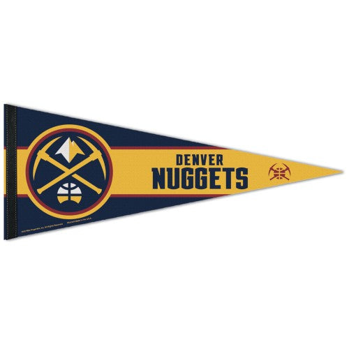 Denver Nuggets Official NBA Team Logo Premium Felt Pennant - Wincraft Inc.