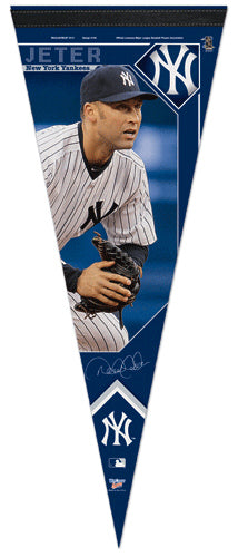 "Derek Jeter ""Intensity"" New York Yankees Premium Felt Collector's Pennant (2012) - Wincraft Inc."
