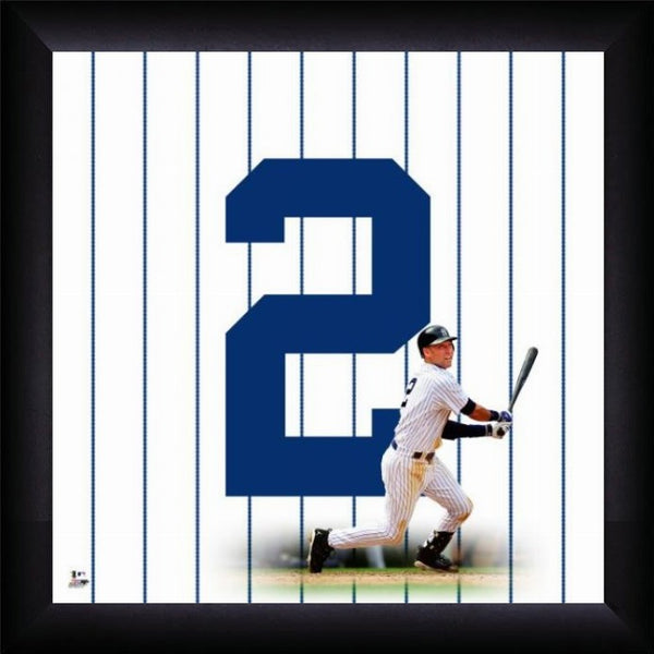 "Derek Jeter ""Number 2"" New York Yankees MLB FRAMED 20x20 UNIFRAME PRINT - Photofile Inc."