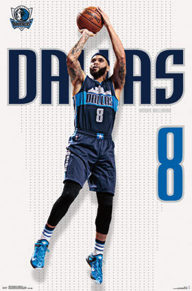 "Deron Williams ""Texas Shooter"" Dallas Mavericks NBA Action Wall Poster - Trends 2016"